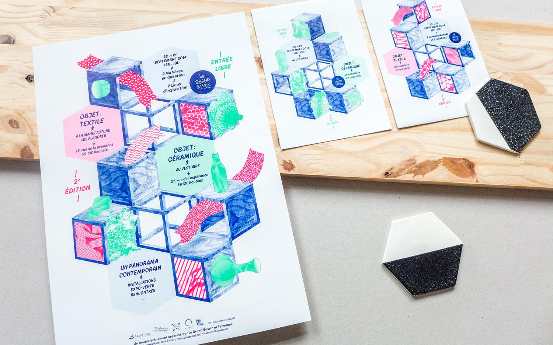 Objet : Textile / Objet : Céramique
